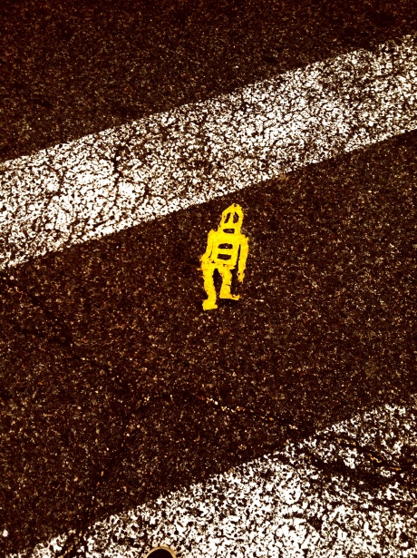 Little Flat Man on the Crosswalk
