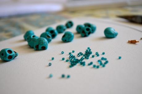 Skull & Seed Beads