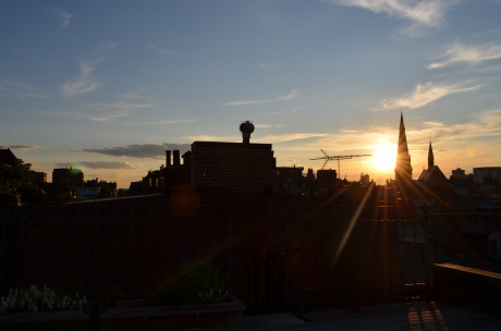 Rooftop Sunset in Boston