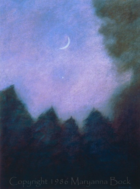 Mary anna bock moonscape pastel